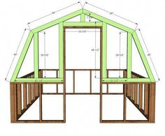 Ana White Build a Barn Greenhouse DIY Project and Furniture Plans Building A Chicken Coop, Building A Shed, Building Plans, Green Building, Diy Greenhouse Plans, Greenhouse Gardening, Greenhouse Wedding, Indoor Greenhouse, Greenhouse Panels