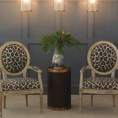 Avery Antiqued Ivory Bagira Chair Set of 2 #laylagrayce