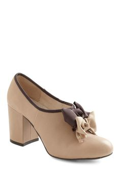 Dinner and a Bow Heel. oddly...i like it