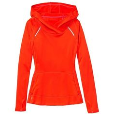 Athleta Women Plushtec Wrap Front Hoodie Size XXS ($24) ❤ liked on Polyvore featuring activewear, hoodies, orange, athleta sportswear, athleta and sweater pullover
