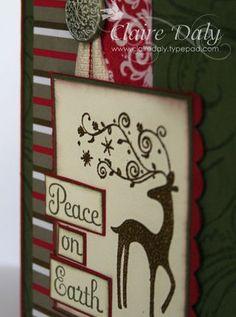 Dasher Stampin Up Christmas card. #stampinup #christmascards #stampinupaustralia…