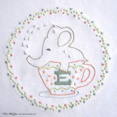 Embroidery Pattern PDF E is for Elephant In a от sherimcculley