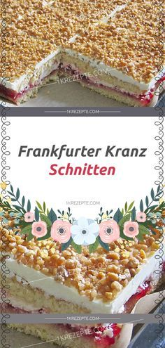 Frankfurt wreath cuts – simple recipes Informations About Frankfurter Kranz Schnitten – Einfache Rezepte Pin You can easily use my Bread Recipes, Baking Recipes, Cookie Recipes, Dessert Recipes, Pasta Recipes, Oreo Desserts, Pudding Desserts, Dessert Bread, Food Cakes