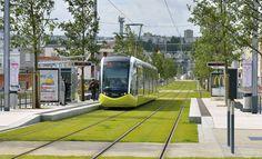 Richez Associés | le tramway de Brest Tramway, Kuala Lumpur, Urban Landscape, Landscape Design, Sponge City, Region Bretagne, New Urbanism, Eco City, Public Space Design
