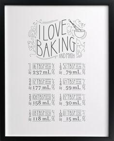 I Love Baking And Math - Minted.com