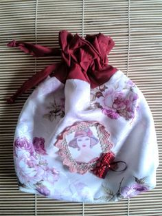 shabby chic bag jewellery bag tarot oracle por ShabbyChicVintageBag