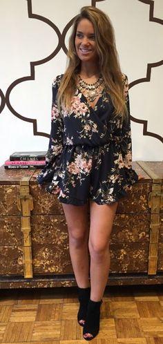 Laney Floral Romper - shop it now at http://privilegeclothing.com
