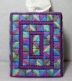 Plastic Canvas Box Patterns, Plastic Canvas Stitches, Plastic Canvas Coasters, Plastic Canvas Tissue Boxes, Plastic Canvas Crafts, Bargello Patterns, Plastic Mesh, 4 Ply Yarn, Tissue Box Covers