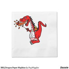 BBQ Dragon Paper Napkins
