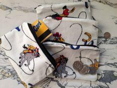 "Retro Cowboy Cowgirl Sherriff Rockabilly 3.5"" x 5.5"" Zipper Pouch Coin Purse Coin Pouch"