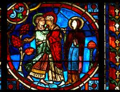 The Visitation - Medieval stained glass