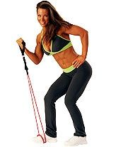 Arm work outs with resistance band