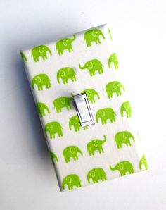 Lime Green Elephant Light Switch Plate / Kawaii Baby by SSKDesigns, $10.00