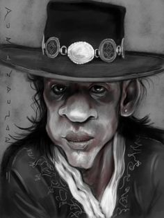 View source image Funny Caricatures, Celebrity Caricatures, Jazz, Stevie Ray Vaughan, Famous People, Cowboy Hats, Captain Hat, Stars, Celebrities