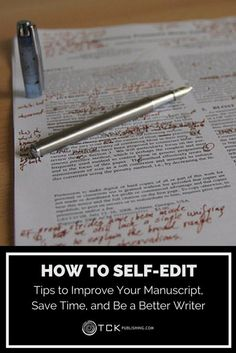 Behind every great writer is a great editor...but the very best writers know how to edit themselves, too. Use these tips to help make the most of your work from draft to done!