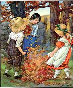 1930 Illustration By Clara M. Burd |From A Child's Garden Of Verses, Seasons