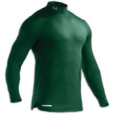 Under Armour ColdGear Fitted Mock - Mens - Forest Green