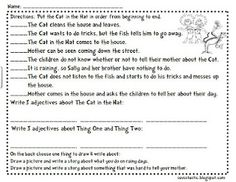 cat in the hat activity