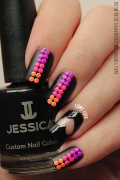 Dot and Heart Nail Art - 30+ Adorable Polka Dots Nail Designs <3 <3
