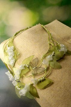 Vintage wedding necklace Lilly of The Valley and by FiveOClocks, $115.00