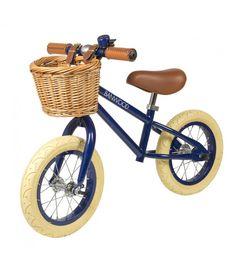 Banwood Balance Bike First Go Navy - Trouva Velo Vintage, Vintage Bicycles, Vintage Style, Go Navy, Navy Blue, Push Bikes, Bmx Bikes, Balance Bike, Mountain Bike Shoes
