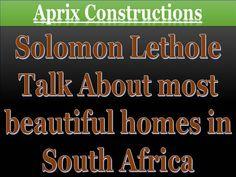 #SolomonLethole | Tsholofelo Lethole | Thabe Phalane by solomonlethole via authorSTREAM Solomon, South Africa, Beautiful Homes, Construction, Let It Be, Wordpress, House Of Beauty, Building, Nice Houses