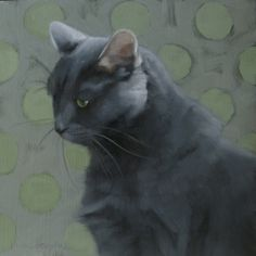 Blue Coco and I will juror a show on CFAI.co, painting by artist Diane Hoeptner