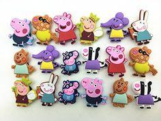 18 Peppa Pig George Daddy Pig Shoe Charms Fits Croc Shoes & Wristband Shoe Charmers http://www.amazon.com/dp/B00PFHZEKY/ref=cm_sw_r_pi_dp_gNnWvb00AYT3X