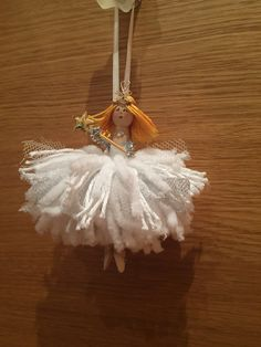 Peg doll pompon fairy