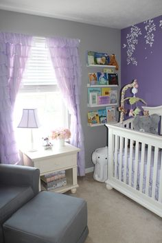 Lavender Nursery Room View Love The Grey And Purple Together