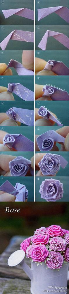 Handmade origami DIY knitting
