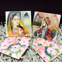 A touch of floral to these Mughal coasters. Add a dash of royal to your home decor with these beautiful coasters that are handcrafted with love ❤️ For orders www.singingsparrow.in