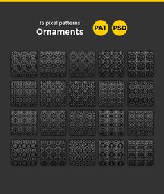 Buy 15 Ornament Patterns by yulia_buchatskaya on GraphicRiver. 15 Transparent Pixel PatternsSet includes: PSD file with all the patterns PAT file The font i used for the heading: M.