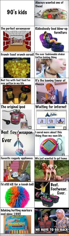 I was born in but pretty much all of these things were a part of my childhood. I may not remember the nineties, but the nineties were a big part of my childhood. Those Were The Days, The Good Old Days, Just In Case, Just For You, Nerd, Lol, To Infinity And Beyond, 90s Kids, Kids Fun