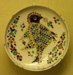 Kutahya Plate Two Birds Pera Museum Turkish Tiles, Turkish Art, Ceramic Birds, Ceramic Pottery, Glazed Tiles, China Painting, Istanbul Turkey, Islamic Art, Earthenware