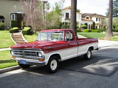 I have always wanted a old Ford truck that is red and white. Anyone that knows me laughs....but would love to have this someday:)