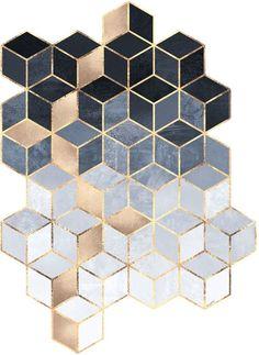 Curioos Soft Blue Gradient Cubes by Elisabeth Fredriksson (Aluminum Die Cut) - Live Wallpapers Wall Design, Design Art, Edge Design, Doodle Drawing, Plakat Design, Geometric Art, Wallpaper Backgrounds, Wallpapers, Aluminium