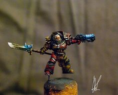 Painted 40K: Howling Griffon Chapter Master, Painted by Henry South