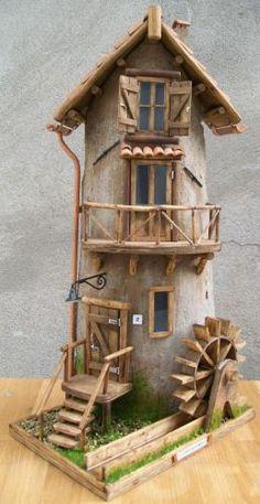 Clay Fairy House, Fairy Garden Houses, Miniature Fairy Gardens, Miniature Houses, Cardboard Crafts Kids, Fairytale House, Storybook Homes, Clay Wall Art, Metal Clock