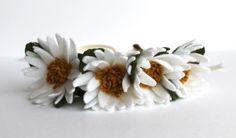 A personal favorite from my Etsy shop https://www.etsy.com/listing/166146164/daisy-felt-flower-crown-flower-headband