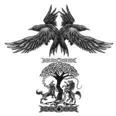Yggdrasil (Norse mythology) half-sleeve