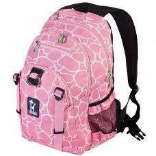 Pink Giraffe Serious Backpack | Little Girl Style