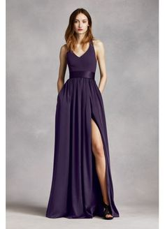 V Neck Halter Gown with Sash VW360214  It comes in Marine or Midnight for Navy and the Apple red