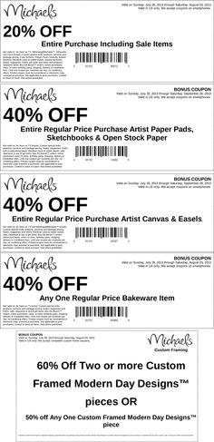 Pinned July off the tab & more at Michaels coupon via The Coupons App Michaels Coupon, Money Saving Tips, Money Savers, Discount Coupons, Coupon Deals, Teaching Resources, Sheet Music, App, Words