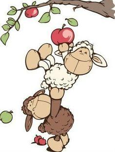 Dankie dat jy altyd daar is vir my Cartoon Drawings, Cute Drawings, Clipart, Farm Animals, Cute Animals, Sheep Cartoon, Sheep Art, Happy Eid, Illustrations