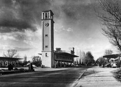 Antigua foto de la gasolinera de Puerta de Hierro MADRID