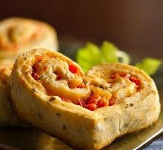 Red Pepper-Filled Appetizer Hearts - Enjoy these savory baked appetizers made using Original Bisquick mix layered with cheese and bell pepper mixture – perfect for Valentine's Day. Best Dinner Recipes, Holiday Recipes, Delicious Recipes, Healthy Recipes, Mini Empanadas, Wedding Appetizers, Christmas Appetizers, Christmas Treats, Valentines Day Dinner