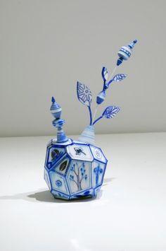 Kirsten Hassenfeld  Blueware (Flower) 2009