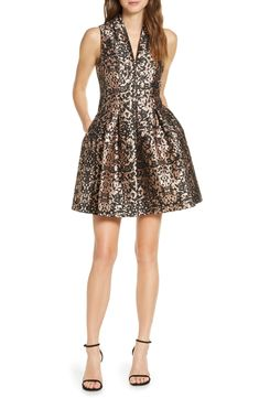online shopping for Vince Camuto Fit & Flare Brocade Dress from top store. See new offer for Vince Camuto Fit & Flare Brocade Dress Metallic Pleated Skirt, Sequin Midi Dress, Brocade Dresses, Straight Skirt, Nordstrom Dresses, Beautiful Outfits, Fashion Dresses, Women's Dresses, Dresses Online