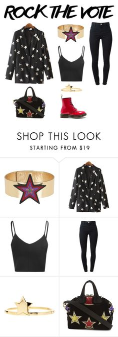 """""""Untitled #1124"""" by campbell765 ❤ liked on Polyvore featuring Manish Arora, Chicnova Fashion, Glamorous, J Brand, Bony Levy, Givenchy and Dr. Martens"""